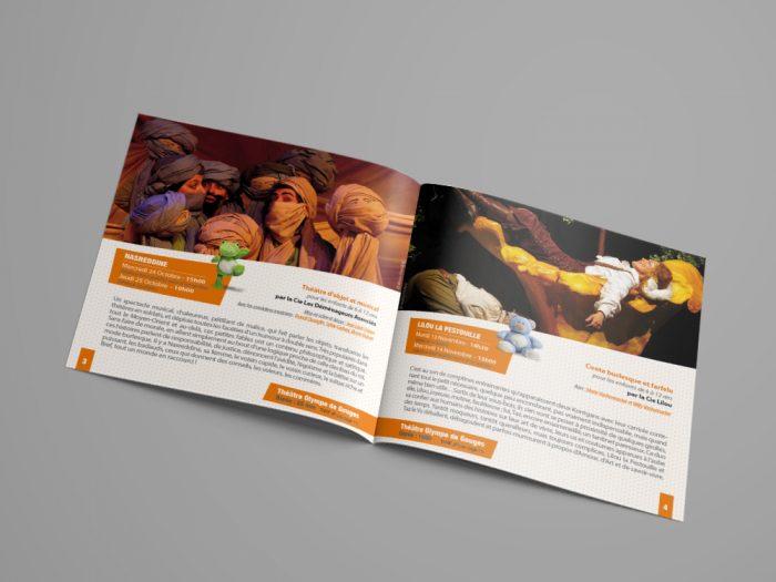 A4 Landscape Brochure Mockup - DOUBLE1