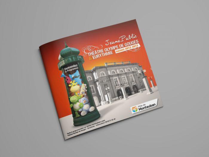 A4 Landscape Brochure Mockup - Free Version
