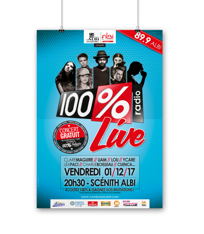 A0 PSD Poster Mockup-LIVE ALBI