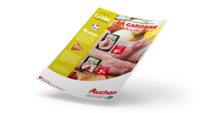 FLYER LAPIN AUCHAN RECTO